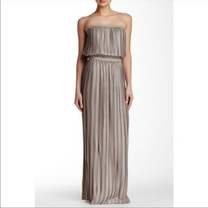BCBG Mateo pleated Maxi dress